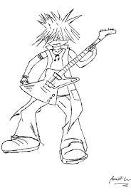 Drawn guitar line drawing 92