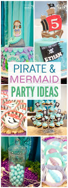 Here's a joint party for a boy and girl with a pirate and mermaid theme!