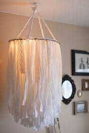 diy bedroom chandelier ideas cloth chandelier simple