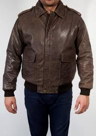 mens pilot leather er jacket distressed