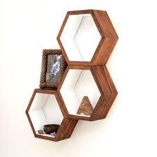 honeycomb cubby shelves wall shelving geometric hexagon shelves modern eco frien