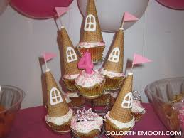 Princess Castle Cupcakes Color The Moon