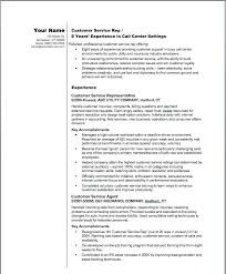Resume Examples For Customer Service Representative Customer Service Inspiration Sample Customer Service Resume