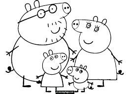 Expensive Pig Coloring Page A1770 Fabulous Peppa Pig Colouring