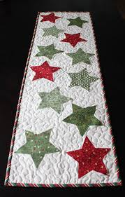 christmas star table runner pattern pdf by abrightcorner on etsy