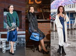 Базовый гардероб: 5 модных образов с <b>платьем</b>-комбинацией ...