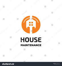 Building Maintenance Logo Design Two Hand Keeping House Maintenance Logo Icon Vector Template