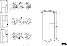 Ikea Instruction Manuals Ikea Storage Furniture Hemnes Wardrobe Pdf Assembly Instruction