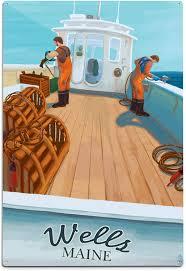 Lobster Boat 52425 (6x9 Aluminum Wall ...
