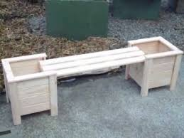 planter boxes with bench