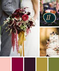 Invigorating Jewel Toned Wedding Color Inspiration Also Jewel Toned Wedding  Colors in Fall Wedding Colors