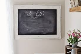 T Office Chalkboard Makeover With Milk Paint