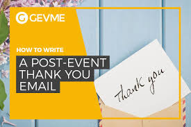 write a post event thank you email