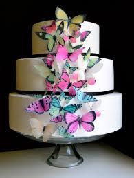 Cupcake Decorating Accessories Wedding Cake Topper Wedding Cake Topper EDIBLE BUTTERFLIES 90