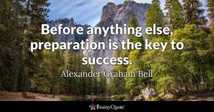key to success quotes brainyquote before anything else preparation is the key to success alexander graham bell