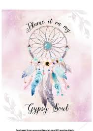 Dream Catcher With Quote Best Gypsy Soul Dreamcatcher Quote CUP3232 Craftsuprint