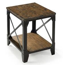 rustic reclaimed wood end table house design recycled tables sears microwave lazy boy chair library small