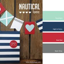 Pool Party, Night of Navy, Real Red, Basic Gray #stampinupcolorcombos   Nautical Color PalettesNautical ...
