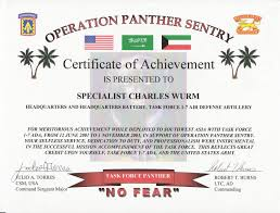 Army Certificate Of Appreciation Receipt For Cash Payment Contact