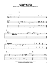Cissy Strut Chart The Meters Sheet Music To Download And Print World Center