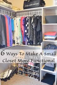 Best 25 Small Closet Organization Ideas On Pinterest Organizing Walk