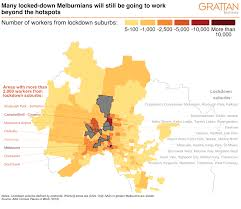 The lockdown applies to 36 suburbs across 10 restricted postcodes, sometimes splitting a street down the middle. Victorians Must All Share The Lockdown Load Grattan Blog