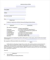 word templates resignation letter free 10 teacher resignation letter templates in word