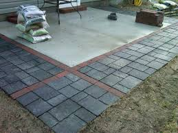 good concrete patio pavers for how to install