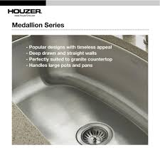 Houzer 40 Stainless Steel Undermount Triple Kitchen Sink Mgt 4120
