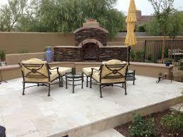 scottsdale backyard landscape fireplace renovation