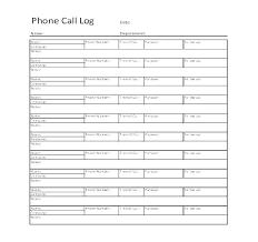 Printable Call Log Template Phone Tracking Photo Highest