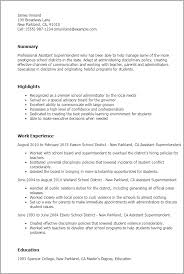 Resume Templates: Assistant Superintendent