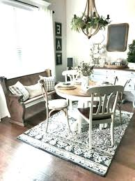 dining room rug ideas best rugs for proper size intended farmhouse dining room rug ideas