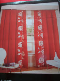 bright red white lined curtains 90x90 heading tape top bnib