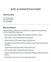 Resume Format For Accountant Accountant Resume Sample Junior