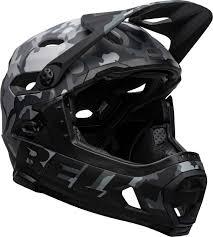 Bell Super Dh Mips Full Face Helmet Matte Gloss Black Camo