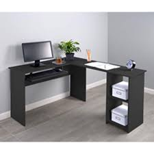 office corner. Fineboard L-shaped Office Corner Desk With 2 Side Shelves - Free Shipping Today Overstock 24849095 D