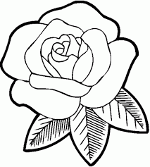 Small Picture Rose Flower Coloring Pages Letter And Rose Valentines Coloring