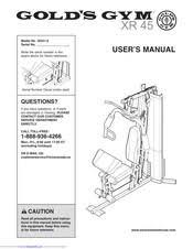 Golds Gym Xr45 User Manual Pdf Download