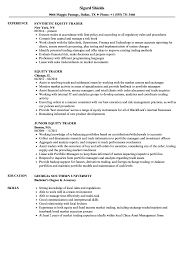 Equity Trader Resume Samples Velvet Jobs