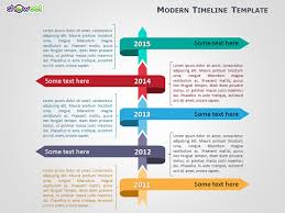 Vertical Timeline Powerpoint Modern Timeline Template For Powerpoint