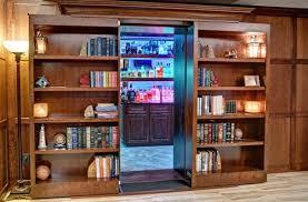 Office bookcases with doors Wooden Sliding Bookcase Door Creative Home Engineering Hidden Bookcase Doors Secure Custom High Tech Secret Bookcases