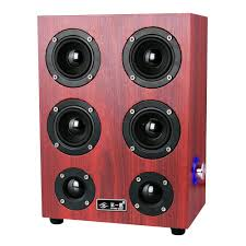 speakers with subwoofer. hp-x7 wooden speaker subwoofer usb audio speakers (red) | lazada indonesia with