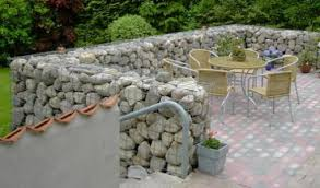 Small Picture landscaping ideas with boulders Gabion landscaping Design Ideas