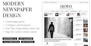 Newspaper Html Template Hewo Modern Newspaper Html Template By Alithemes Overview Hewo Is