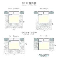 what size area rug for queen bed bedroom rugs guide showing all furniture on the siz