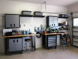Cabinets For Workshop Decor Stongest Gladiator Garage Shelving With Best Iron Skin For