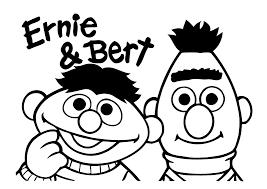 Kleurplaat Bert En Ernie Sesamstraat 307