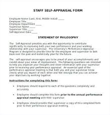 Employee Performance Appraisal Form Template Fresh Sample Self ...