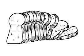 slice of bread outline. Plain Slice Hand Drawn Sketch Of Sliced Bread Black And White Simple Line Vector  Illustration For Coloring Book  Line Drawn  Stock Colourbox For Slice Of Bread Outline F